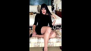 crossdresser in pantyhose and high heels