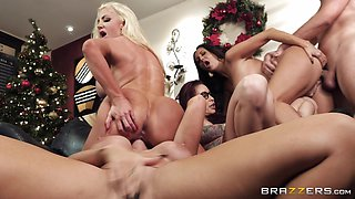 Monique Alexander and Ava Addams join horny friends for an office orgy