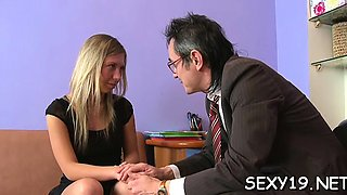 Sweetheart is having threesome with stud and old teacher
