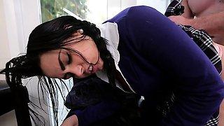 Naughty young schoolgirl Ada Sanchez gets fucked by her