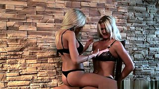 Lesbian Mistress Disciplines Her Subs Pussy