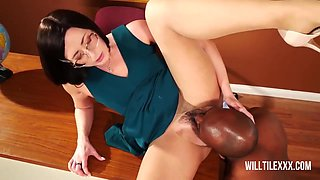 Hot Teacher, Helena Is Sucking A Big, Black Dick In The Classroom And Getting Fucked Hard