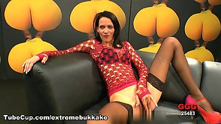 Crazy pornstar in Best Stockings, German sex video