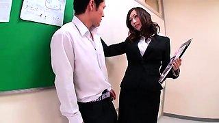 Bodacious Japanese teacher gets used by a gang of horny boys