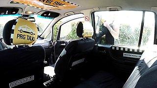 Strangers Voyeurs Watching Czech TAXI car in action