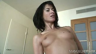 Raunchy mom takes massive cock in her flexible ass hole