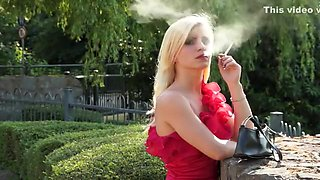 Fabulous homemade Smoking, Solo Girl adult clip