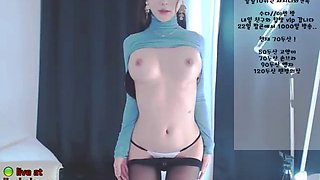 korean bj sexy neat in pantyhose and stockings