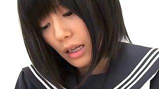Japanese schoolgirl uta kohaku tempting a boy