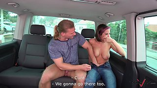 Quickie fucking in the back of the van with handsome Annabelle