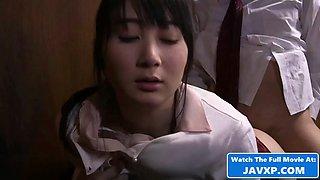 Asian milf with her husbands pervert boss