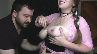 Lactating Both Hubby And Her Suck Milk Out