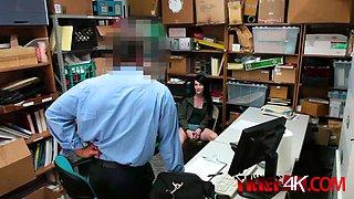 astonishing brunette babe is enjoying a stiff monster abuse her ass