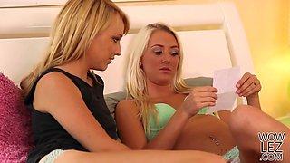 Blonde american lesbos