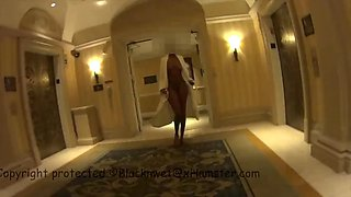 naked in las vegas hotel spa and hallway
