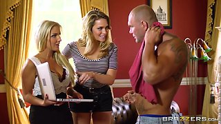 Real Wife Stories: Spilling the Gardener's Seed. Georgie Lyall, Mia Malkova, Nacho Vidal