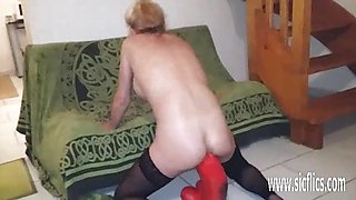 Kinky Anal fisting and huge fire extinguisher fuck