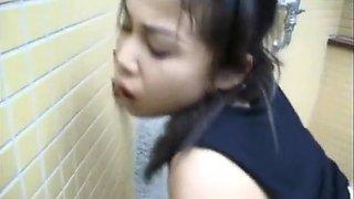 Asian Schoolgirl Fucked In A Public Toilet