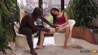 black4k. awesome interracial sex in the gym where white lassie works feature