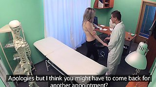Fake Hospital Doctors bruised bollocks healed by pussy lips