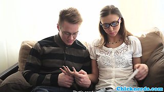 Spex euro student gets her pussy banged hard