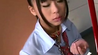 Jap school girl chained and facefucked 2
