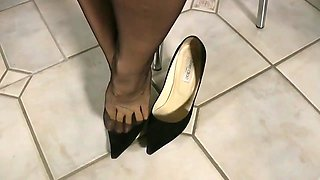 Shoeless my beautiful jimmy choo high heels