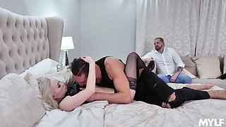 mature blonde Natasha James craving for hard and fat friend's penis