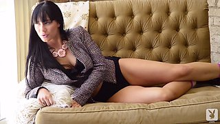 Hot erotica scene with a charming solo model Lana James