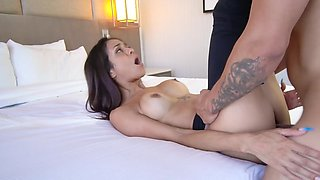 Brazilian MILF spreads legs in the point of view porn video