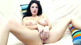 Brunette Teen Plays With Her Big Tits and Pussy