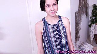 Taboo teen cummed over