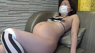 Japanese pregnant 8 month wife like cheating other dick cum inside