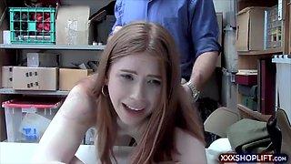 irish redhead shoplifter teen chick gets punish fucked