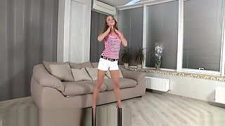 First naughty video for flexible  cutie