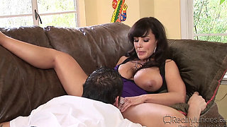MILF with big tits seduces this young church boy