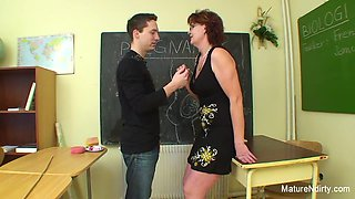 Student Fucks His Much Older Teacher - Mature'NDirty