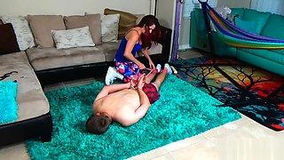 Slave Loses Handcuff Wrestling Struggle With Mistress Allura Skye