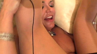 Cum thirsty MILF in stockings is eager to long black cock