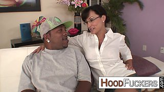 Lisa Ann interracial monster cock taming with happy facial ending