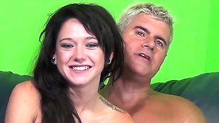 Wild fucking with small tits amateur brunette girl Sky Light