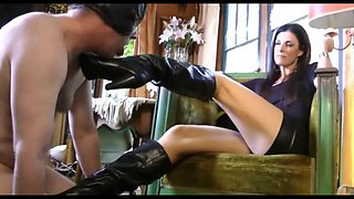 Gorgeous Mistress Degrades Slave