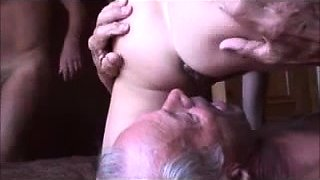 Busty mature wife enjoys cuckold fucking and gets creampied