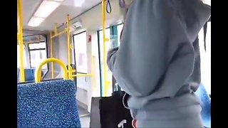 She masturbate on the bus