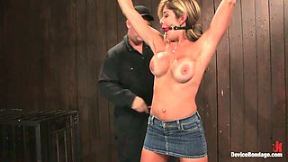 Blonde Babe Felony Getting Chain Domination and Vibrator Toying in BDSM Vid
