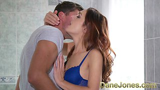 Dane Jones Soaking wet natural Russian redhead squirting and fucked deeply