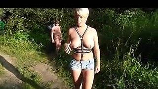 Outdoor lake creampie gang bang