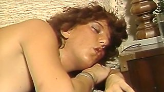 Naughty redhead European milf banged in doggy style position