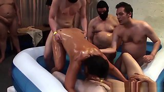 Oiled Milf Reday For Gangbang