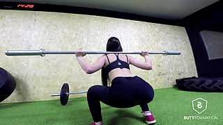 Cassie Fire in Cassie Fire's workout - ButtFormation